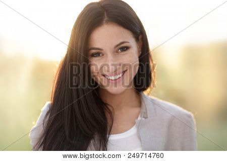 Face of a cute young woman. close-up