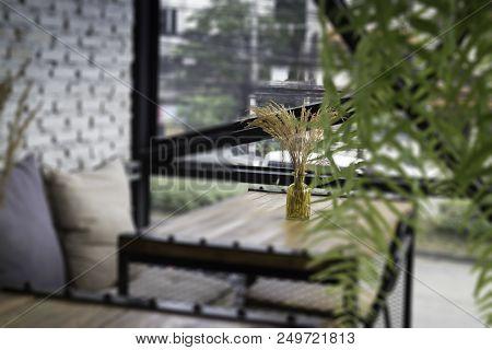 Minimal Style Of Vintage Living Room, Stock Photo