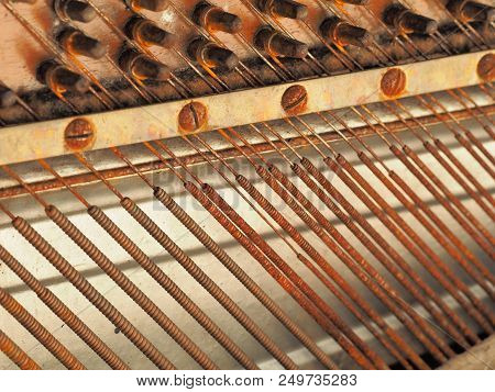 Strings And Mechanics Of A Desolate Old Weathered Piano, Melbourne 2017