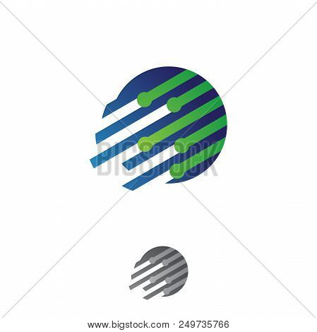 Fast Tech Round Vector Photo Free Trial Bigstock