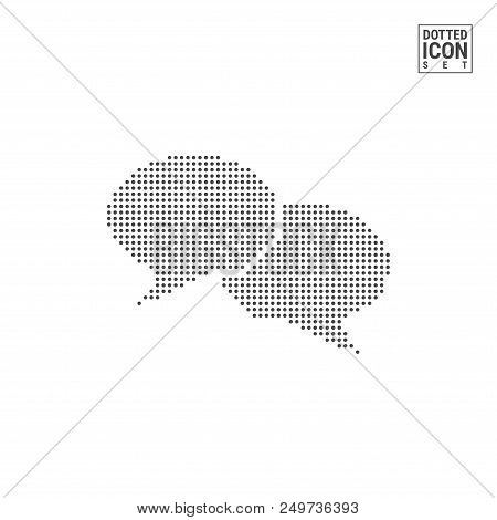 Chat Dot Pattern Icon. Chat Dotted Icon Isolated On White Background. Vector Illustration Of Chat. V