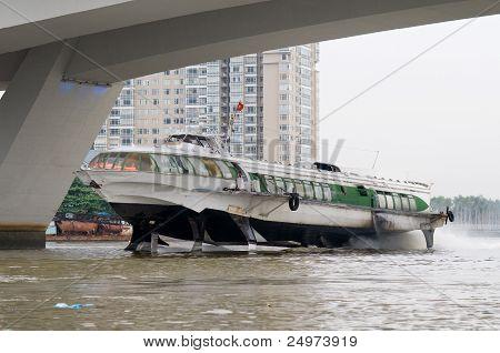 Hydrofoil Boat On Saigon River