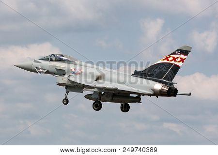 Raf Fairford, Gloucestershire, Uk - July 9, 2014: Royal Air Force (raf) Eurofighter Ef-2000 Typhoon
