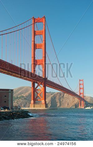 The Golden Gate Bridge In San Francisco During The Sunset