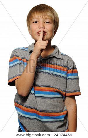 Boy Saying Shhh Quiet