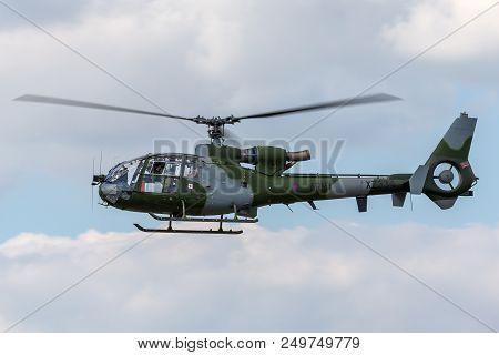 Raf Fairford, Gloucestershire, Uk - July 11, 2014: British Army (army Air Corps) Westland Gazelle Ah