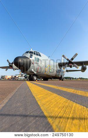 Raf Fairford, Gloucestershire, Uk - July 12, 2014: Belgian Air Component (belgian Air Force) Lockhee