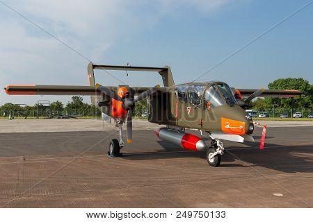 Raf Fairford, Gloucestershire, Uk - July 12, 2014: Former German Air Force (luftwaffe) North America