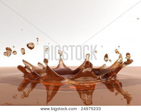 Splash. 3d rendering image