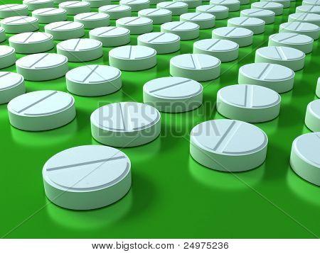 Pills. 3d rendering image