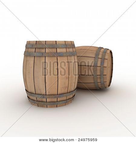 two casks
