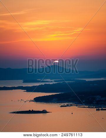 Amazing Kornati Archipelago Of Croatia. Northern Part Of Dalmatia. Sunny Detail Of Stomorski Islands