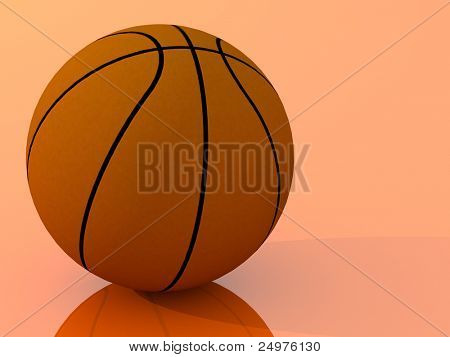 Bball. 3d rendering image