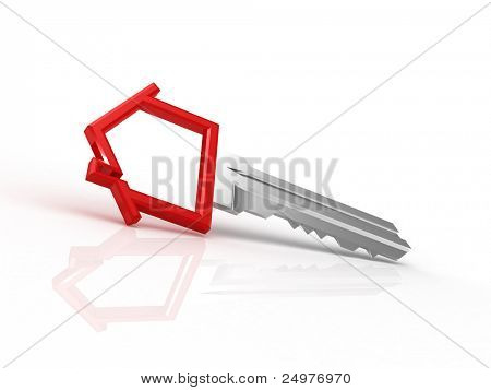Home key with house silhouette