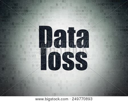Data Concept: Painted Black Word Data Loss On Digital Data Paper Background