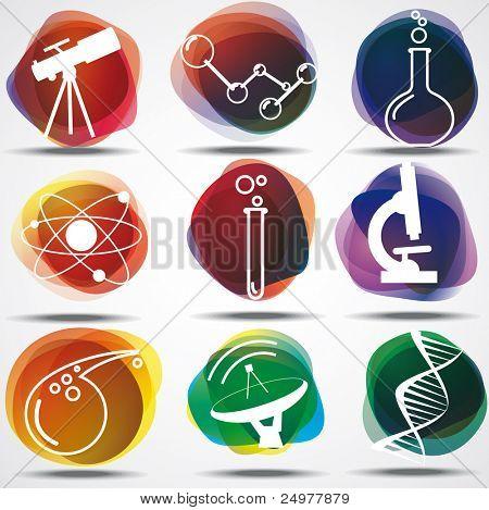 Set of scientific symbols poster