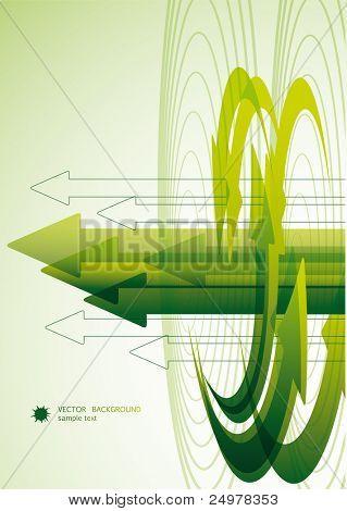 Abstract Green Arrow Bacground