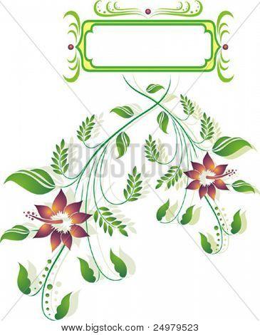Floral frame. (Vector).