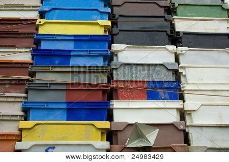 Plastic fish container