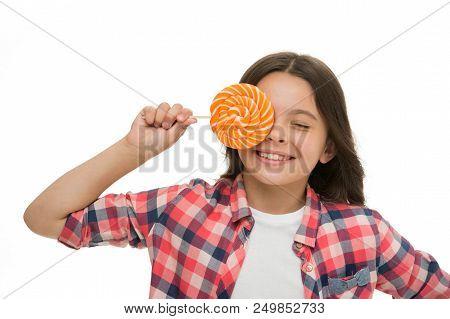 Healthy Teeth. Healthy Teeth Of Small Girl With Lollipop. Little Girl Has Healthy Teeth. Child With