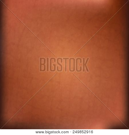 Brown Grunge Wall For Texture Background, Abstract Background Border, Gold Background With Vintage G