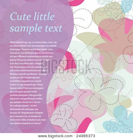 Wedding invitation card design with flower pattern in vector