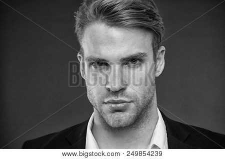 Ceo Businessman. Handsome Ceo Businessman Portrait, Black And White. Successful Ceo Or Businessman I