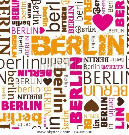 i love Berlin seamless background pattern in vector