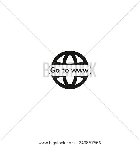 Go To Www Icon Vector Globe Grey