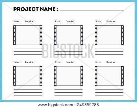 Film Storyboard Composition Scene Template Episode Action Title