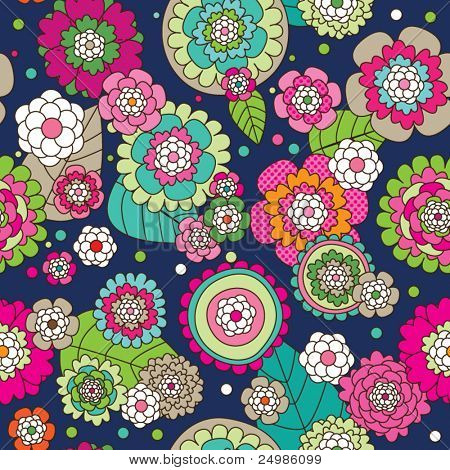 seamless hand drawing flower pattern illustration in vector