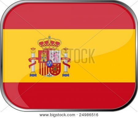 Spain flag icon with official coloring