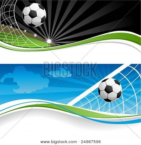 Two soccer banners
