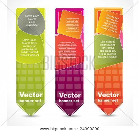 Vertical abstract banners with place for your promotional text