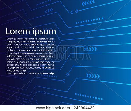 Abstract Digital Circuit Background Vector Design.perspective Digital Circuit Line Background.