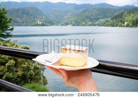 Vanilla And Custard Cream Cake On Bled Lake - The Symbol.