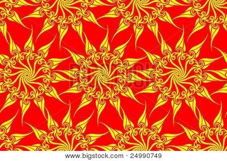 Seamless sun magic pattern