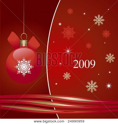 Vector New Year and Christmas card