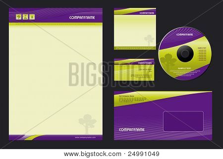 Template Vector Background  - blank, card, cd, note-paper, envelope