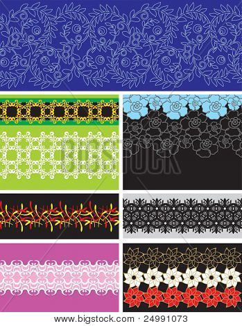 Collection vector seamless pattern wallpapers