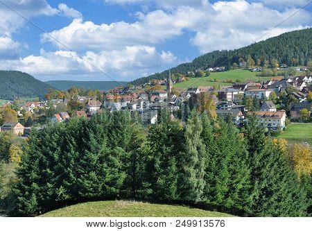 Popular Village Of Baiersbronn In Black Forest,baden-wuerttemberg,germany