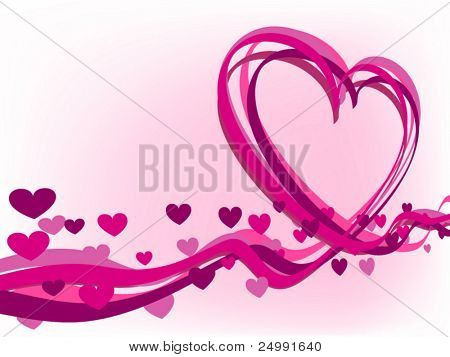 heart from stripes valentine background