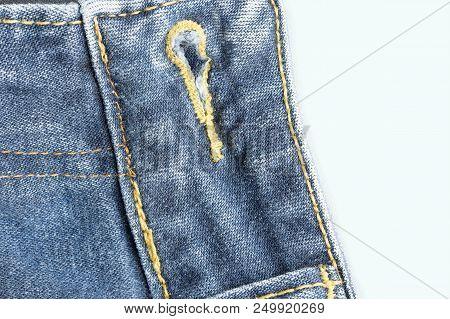 Blue Jeans Fabric. Denim Jeans Texture Or Denim Jeans Background..