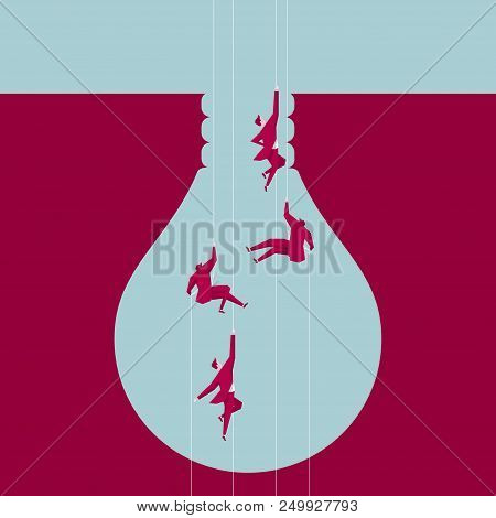 Airborne To The Trap, The Trap Is Shaped Like A Light Bulb.the Background Is Blue.