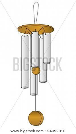 Vector Wind Chime Illustration
