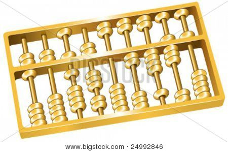 Vector Golden Abacus