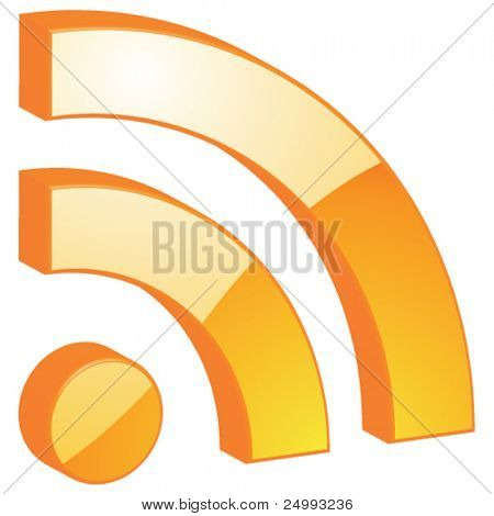 Vector RSS - 3D Glossy Icon