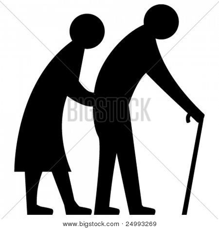 Vector Elderly Couple