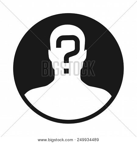 Incognito, Unknown Person, Silhouette Of Man On White Background