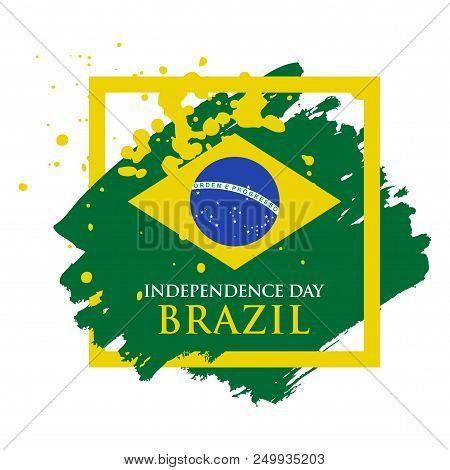 Independence Day Of Brazil Banner, Flag Of Brasil, Vector